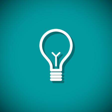 Bulb light idea. Vector illustration