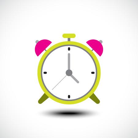 Alarm clock icon. Vector illustration