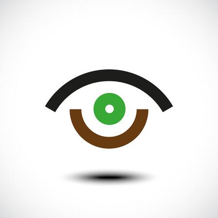 Oogpictogram. Vector illustratie Stock Illustratie