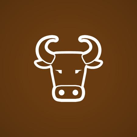 Koe hoofd icoon. Vector illustratie Stock Illustratie