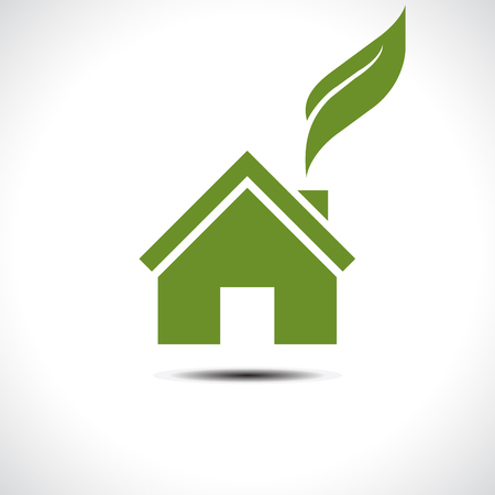 Bio green house icon. Vector illustration Vector