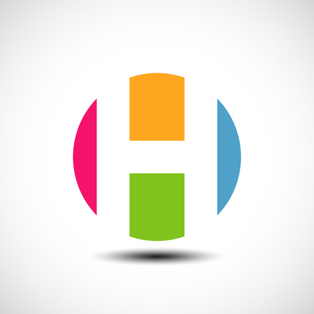 h: Vector illustration of abstract icons based on the letter H