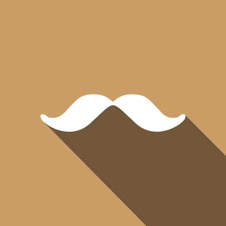 Mustache icon. Vector illustration Illustration