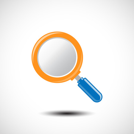 magnify glass: Magnifying Glass Icon. Vector illustration