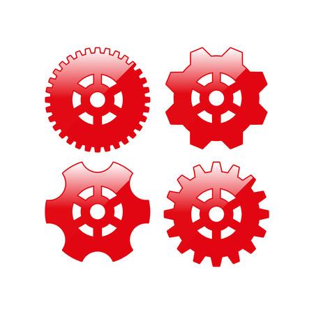 Tandrad en ontwikkeling icoon. vector illustratie Stock Illustratie