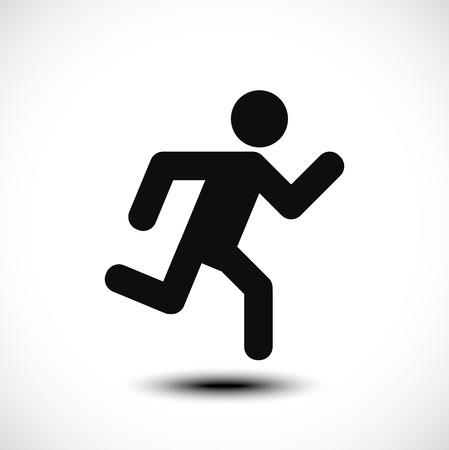 hombres corriendo: Hombre corriente icono. Ilustración vectorial