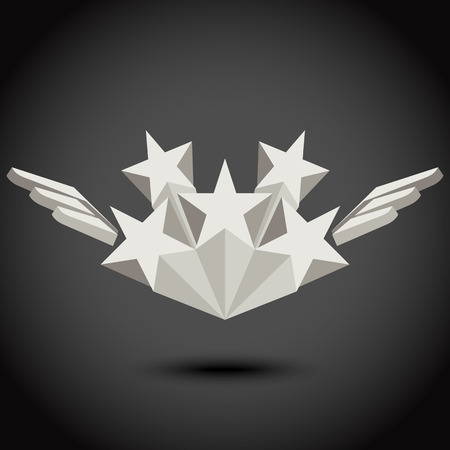 wings vector: Star and wings. Vector illustration Illustration