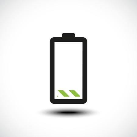 low battery: Low battery icon. Vector illustration