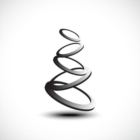 Rings icon. Vector illustration