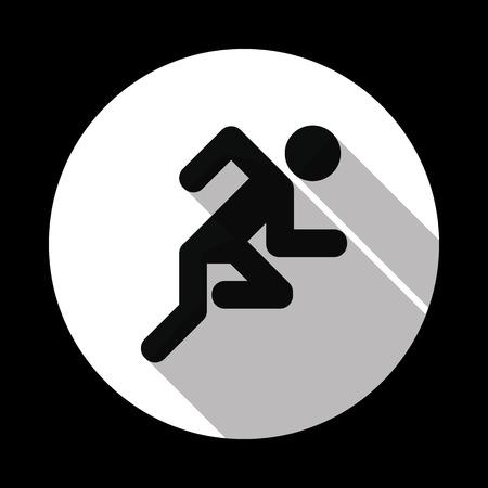 Running man icon. Vector illustration