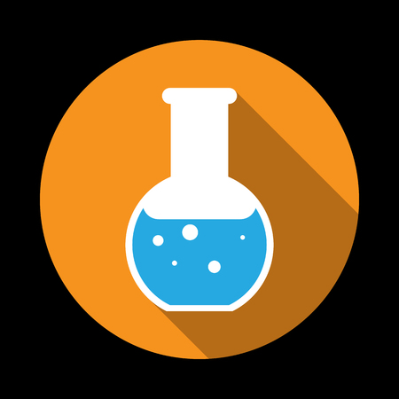 seething: Chemical Icon. Vector illustration flat design