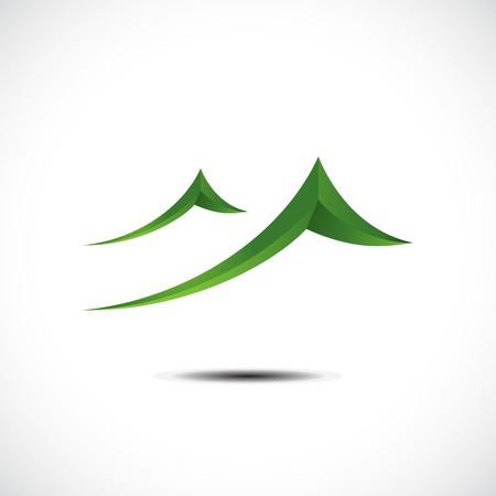 mountainside: Mountain icon. Vector illustration Illustration