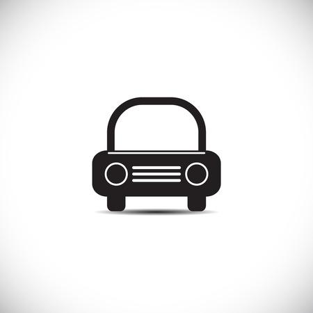 carro caricatura: Icono del coche. Ilustración vectorial