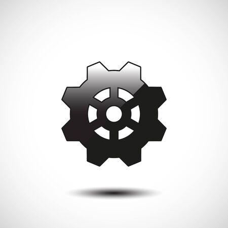 illustrate: Cogwheel and development icon. Vector illustration