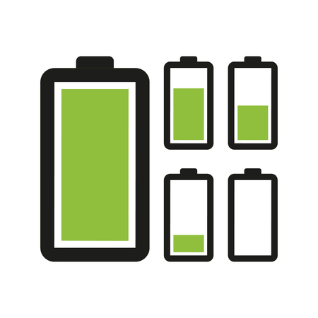 cell charger: Battery icon. Vector illustration Illustration
