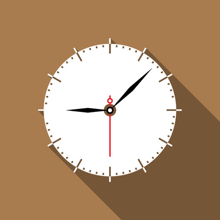 time clock: Clock icon. Vector illustration Illustration