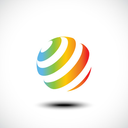 sphere icon: Business Abstract Sphere icon. Vector illustration Illustration