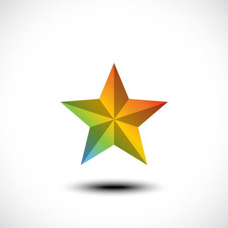superstar: Star icon. Vector illustration Illustration