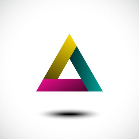 Abstract triangle icon. Vector illustration