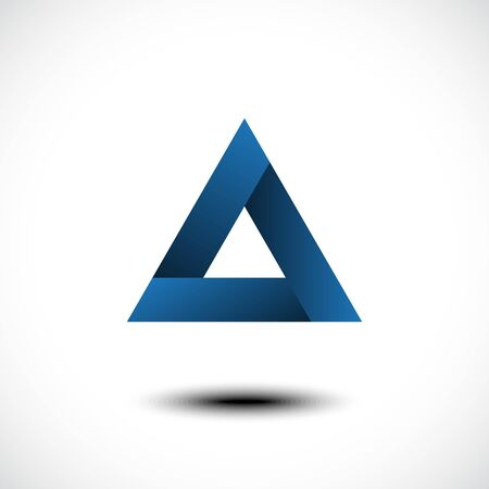 dubstep: Abstract triangle icon. Vector illustration