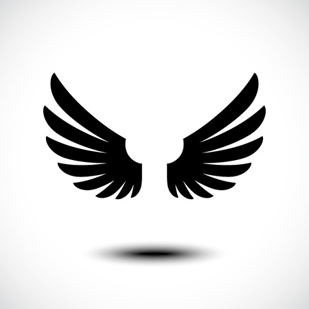 bird shadow: Angel wings. Vector illustration