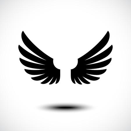 Engelenvleugels. vector illustratie