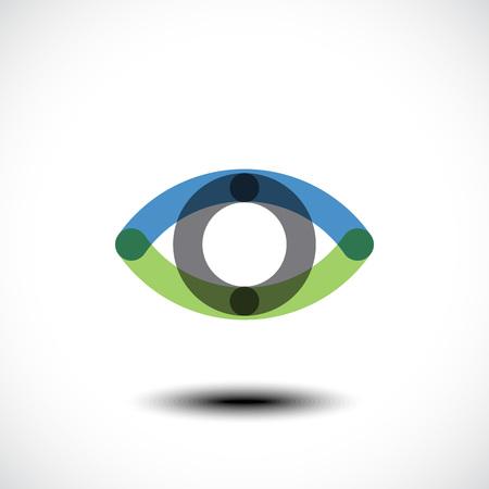Eye Logo design vector template. Creative Vision Logotype concept.  Vector illustration