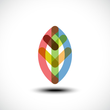 vegetate: Leaf icon. Vector illustration Illustration