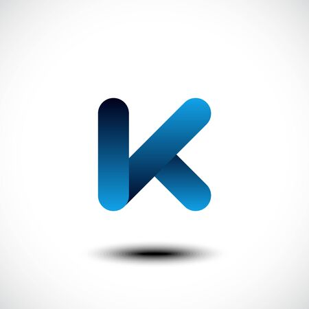 font design: Letter K icon design template elements. Vector illustration