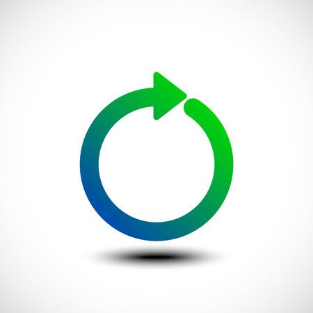 Freccia di vettore del cerchio. Illustrazione vettoriale Vettoriali