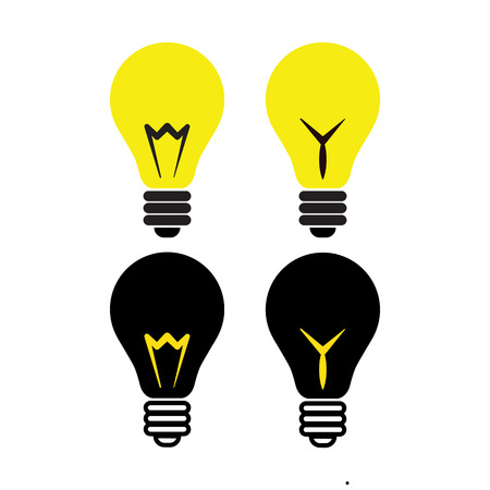 fluorescent lights: Light bulb icon. Idea concept. Vector illustration