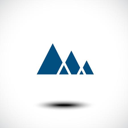 himalaya: Mountain icon. Vector illustration Illustration