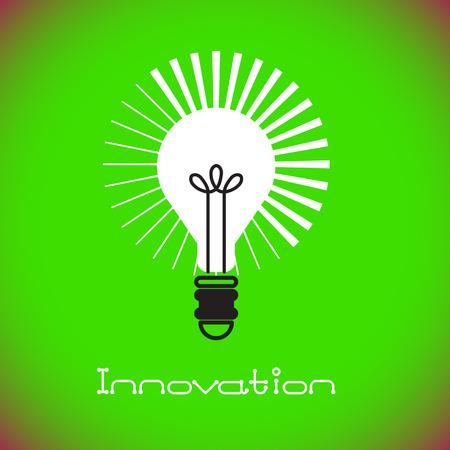 電球のアイコン。アイデア コンセプト。ベクトル図 写真素材 - 60226268