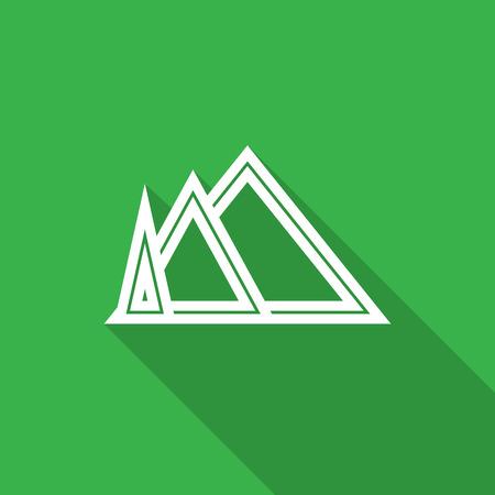 Mountain icon. Vector illustration Illustration