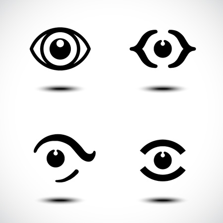 eyelids: Business Abstract Icons Illustration Illustration