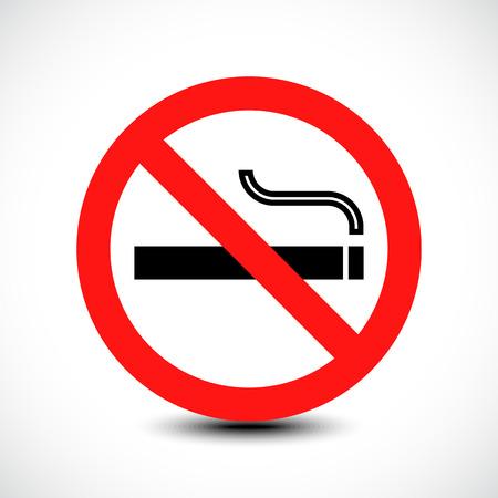 smoldering: No smoking sign. illustration
