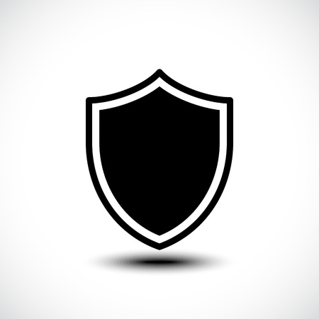 defender: Shield protection icon. Vector illustration