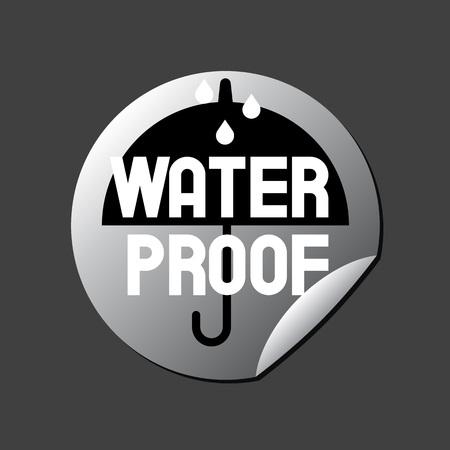 rainproof: Water Proof Sticker Illustration
