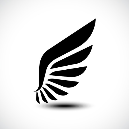 Wing icon isolated on white