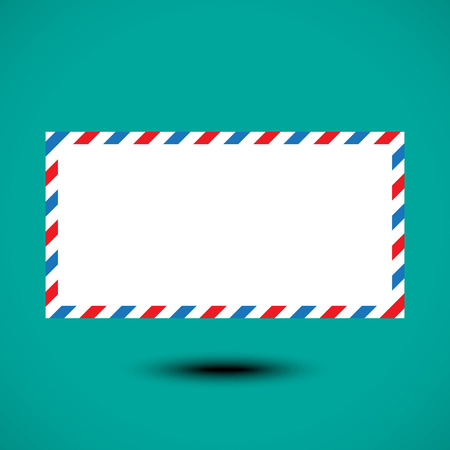 Air mail envelope isolated on white background. Vector illustration