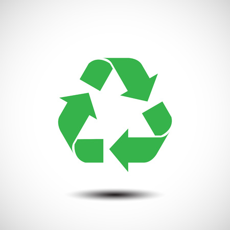 abstract recycle arrows: Recycle sign isolated on white background. Vector illustration Illustration