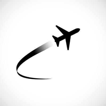 avion volant icône isolé sur fond blanc . vector illustration Vecteurs