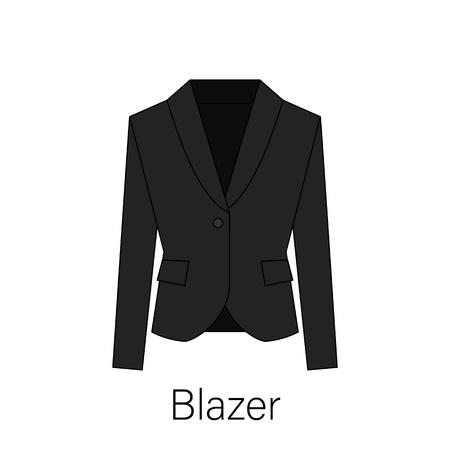 Men blazer or jacket or suit symbol simple flat vector icon in line design. Blazer illustration for web, mobile apps, design. Blazer vector symbol