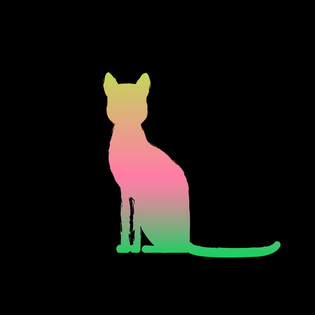 Cat icon. Vector illustration Illustration