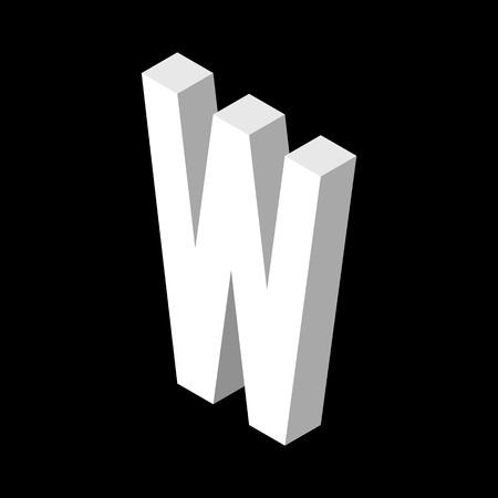 3d Letter W logo icon design template element. Vector illustration