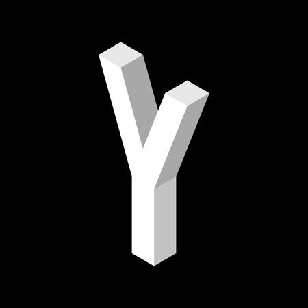 3d Letter Y logo icon design template element. Vector illustration