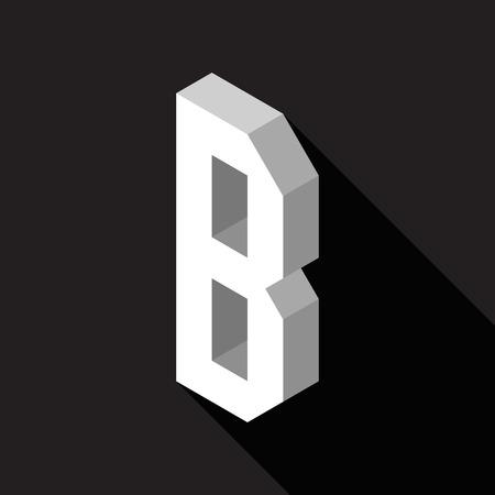 3d Letter B logo icon design template element. Vector illustration