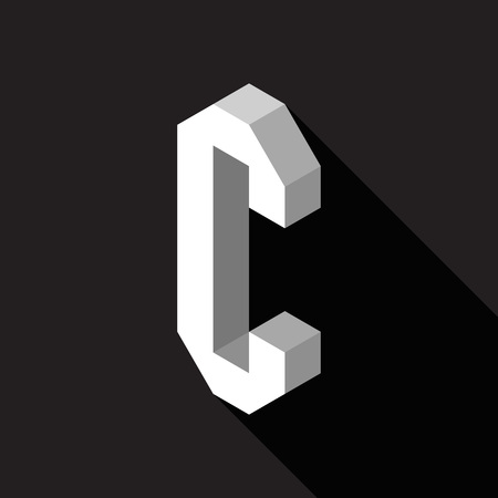 3d Letter C logo icon design template element. Vector illustration