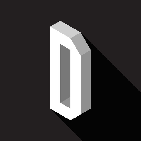 3d Letter D logo icon design template element. Vector illustration Stock Illustratie