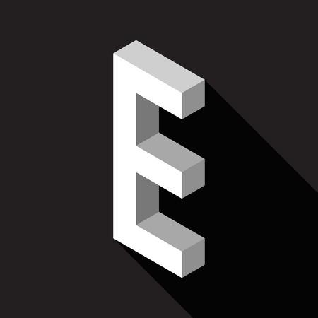 3d Letter E  logo icon design template element. Vector illustration